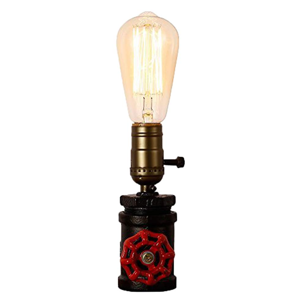 INJUICY Vintage Table Lamps, Steampunk Water Pipe Desk Lamp Base with Switch for Bedside, Bedroom Living, Dining Room, Cafe Bar, Hallway Decor by IJ INJUICY