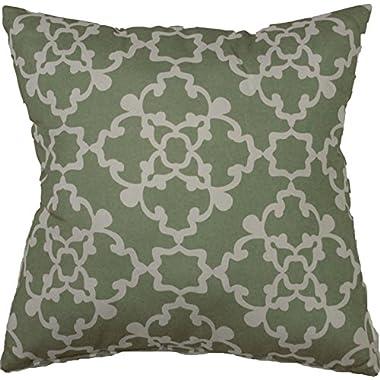 Alex Decorative Throw Pillow, 18 x18 , 2 Pack (Sage)