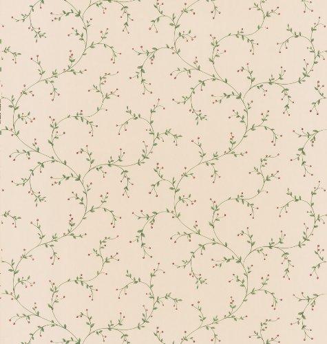 Brewster 414-44641 Hawthorne Beige Trailing Vine Wallpaper