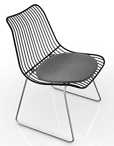Houe Dk Acco   String Dining Chair, Stuhl Ohne Armlehnen   Schwarz, In  Und  Outdoor, Design Henrik Pedersen, Dänemark, Rund   Stahl, ...