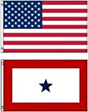 Wholesale Combo LOT 3' X 5' USA & Military One Service Star FLAG Banner 3X5 Vivid Color and UV Fade Resistant Canvas Header and polyester material
