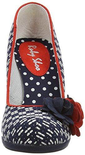 Ruby ShooEva - Zapatos de Tacón mujer Azul (Navy/Red)