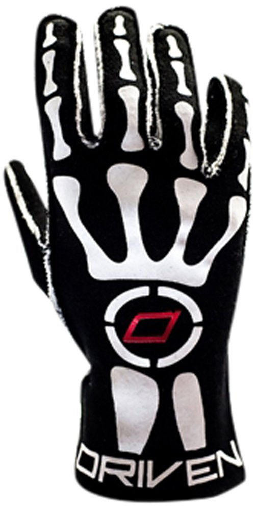 Driven Motorsport Men's Skeleton Gloves (Black, XX-Large)