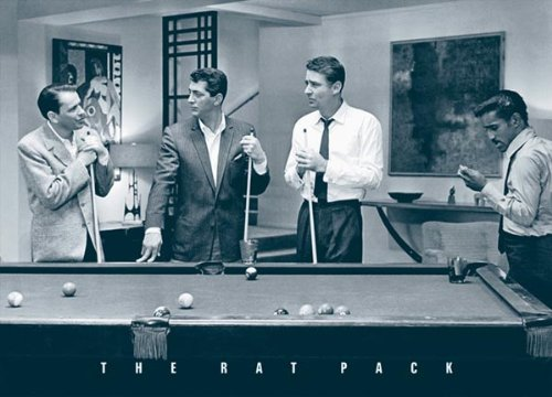 The Rat Pack-Pool, Movie Poster Print, 24 by 36-Inch