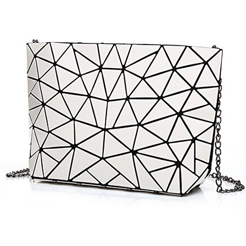 Envelope Womens Holographic Bag Shoulder White Handbag Purse Clutch Fashion Laser Meliya Leather g1d0q0w