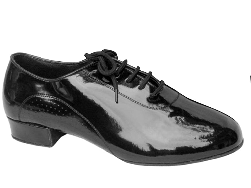 Split Sole with Standard 1 Heel Very Fine Shoes Mens Standard /& Smooth Signature Series S309 7.5, Black Patent Black Patent or Black Leather