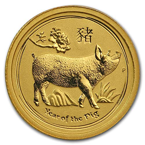 2019 AU Australia 1/20 oz Gold Lunar Pig BU Gold Brilliant Uncirculated ()