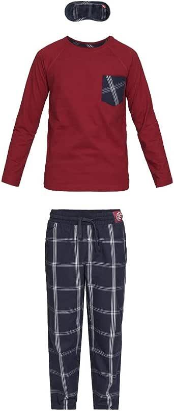 Nightoclock Baran Conjunto de Pijama para niño en algodón orgánico e Antifaz: Amazon.es: Ropa y accesorios