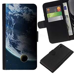 All Phone Most Case / Oferta Especial Cáscara Funda de cuero Monedero Cubierta de proteccion Caso / Wallet Case for Sony Xperia Z2 D6502 // Big & Small Planet