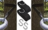 Swing into summer with Sorbus® Hammock Tree Hanging Straps!  These hammock tree straps offer convenience by allowing you to hang your favorite hammock from any tree or post! They provide superior strength while the hooks keep your hammock in place. I...
