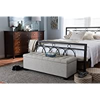 Baxton Studio Roanoke Storage Bench in Beige