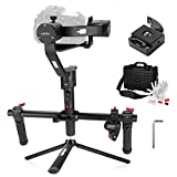 MOZA Air 3 Axis Handheld Gimbal Stabilizer with Dual Handheld Grip and Wireless Thumb Controller for Cameras Between 1.1Lb-5.5Lb Sony A7 Series Panasonic GH5 GH4 GH3 BMPCC Canon EOS 5D Mark IV