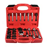 Qiilu Alternator Pulley Kit, 30pcs Alternator Hand Tool Set Freewheel Pulley Remover Disassembly Socket Bit Fits for Toyota