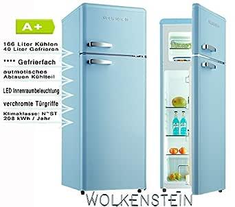 Wolkenstein GK212.4RT LB Nevera/congelador, color azul: Amazon.es ...