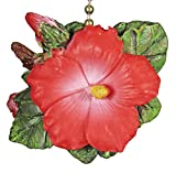 TiKi Tropical Hibiscus Flower DeCoR Fan Light Pull
