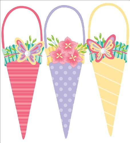 Jolee's Boutique Parcel Dimensional Stickers, Spring Bouquet (Jolees Spring)