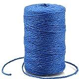 328 Feet Dark Blue Jute Twine,Colourful Jute