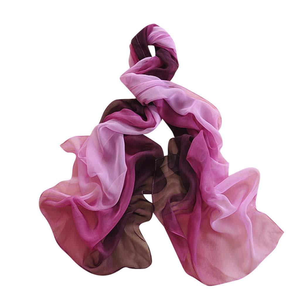 iYBUIA 2018 New Women Gradient Printing Scarf Fashion Female Beach Multi-Purpose Shawl Scarf (One Size, B)