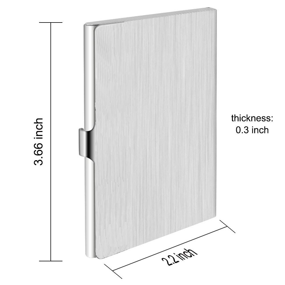 Stainless Steel Storage Protective Holders Pocket Cases for ID Cards Credit Cards 2 Pack Business Card Holders Business Card Cases