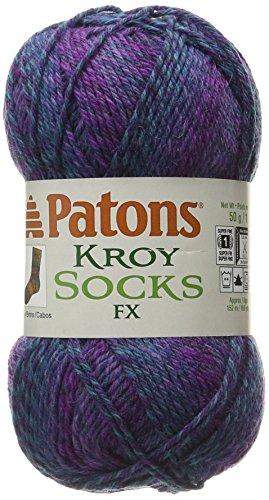 - Spinrite 243457-57330 Kroy Socks FX Yarn, Celestial Colors
