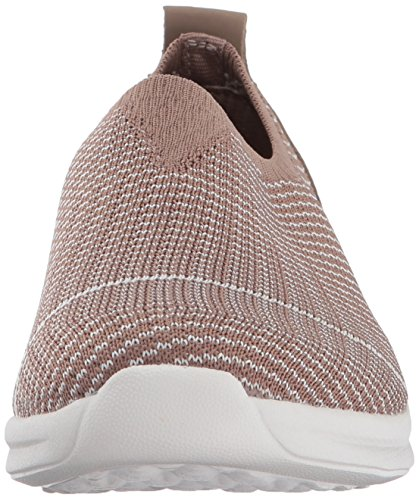 Skechers Womens Bobs Phresher-home Stretch Sneaker Taupe Di Moda
