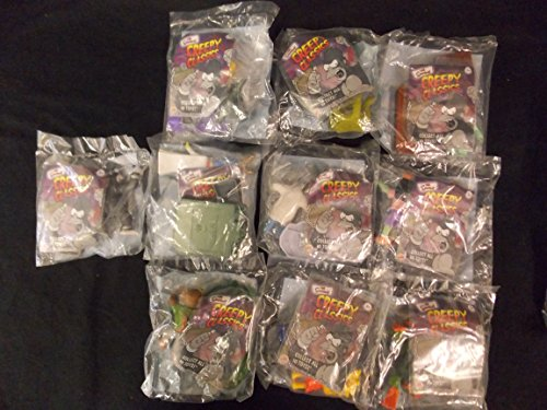 - Burger King Toys Complete Set of 10, The Simpson Creepy Classics 2002, MIP