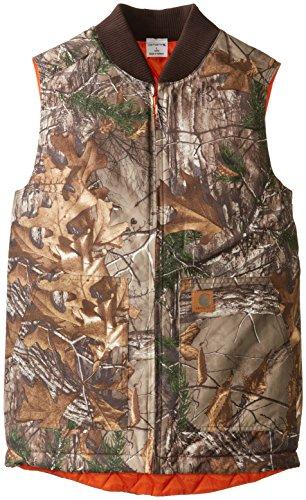 Carhartt Big Boys' Reversible Camo Vest, Real Tree Xtra, Large/14/16