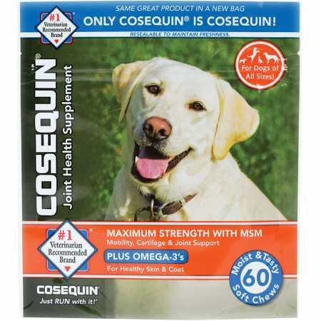 - Cosequin Soft Chews Maximum Strength with MSM Plus Omega3 (60 Count)