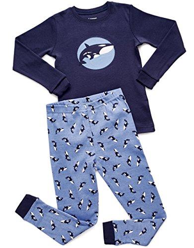 Leveret Orca 2 Piece Pajama Set Top & Pants 100% Cotton (12-18 Months)