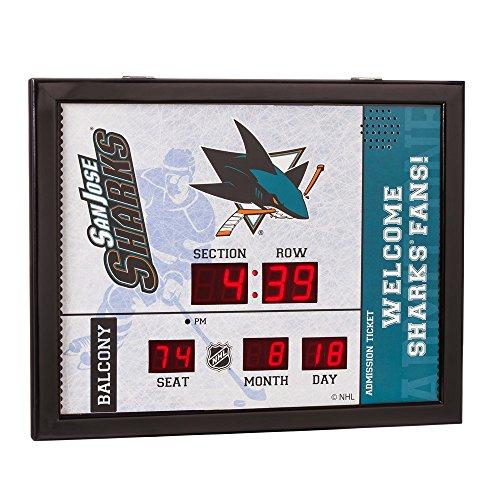 Evergreen NHL San Jose Sharks 14X19 Scoreboard, Team Colors, One Size ()