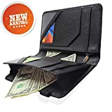 Waitress Waiter Server Book Organizer with Zipper Pocket Wallet for Waitstaff Black 5x9 and 12 Money Pockets with Pen Holder Fits Restaurant Guest Check Order Pad & Apron By Ogalv