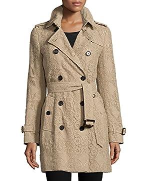【バーバリー】 BURBERRY Kensington Mid-Length Lace Trenchcoat ケンジントンミッド長さレーストレンチコート 【並行輸入品】 LUXRICO