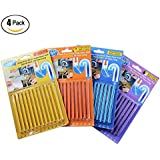 4 Pack Kitchen Sink Drain Cleaner Sticks, Bathtub Shower Toilet Enzymes Snake Drain Cleaner and Deodorizer Keeps Sewer Pipe Clear and Odor Free As Seen On TV(48 Pcs)