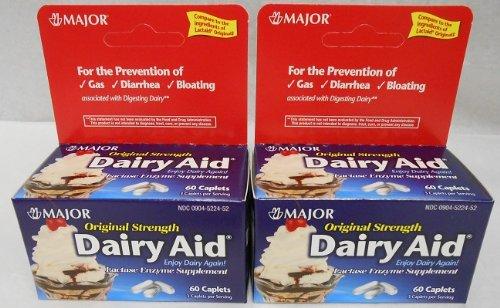 - Dairy Aid Lactase Enzyme Caplets Generic for Lactaid Original 120 Ea.
