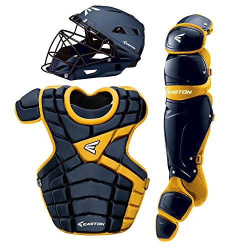 Easton M10 Adult Custom Catchers Set, Navy/Gold