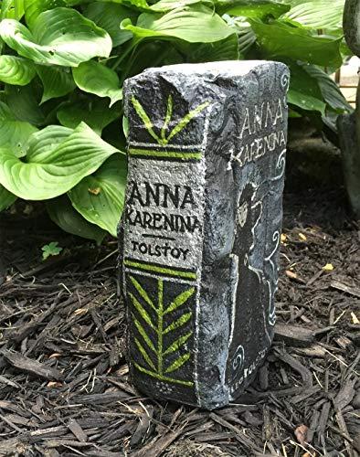 Anna Karenina Artisan Hand Painted Garden Bricks or Book End ()