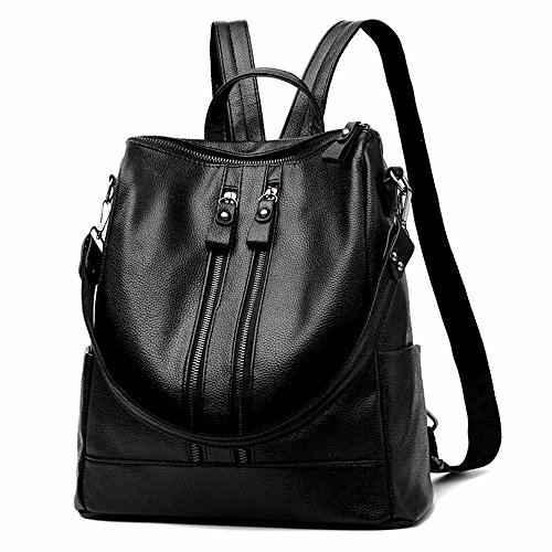 Leather Women PU Backpack Travel Black Work for Backpack School NaSUMTUO for Waterproof AXgFnq