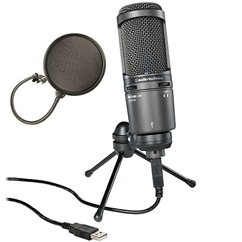 Audio Technica AT2020USB Plus Cardioid Large Diaphragm Condenser USB Mic
