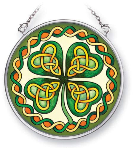 - Stained Glass Suncatcher Celtic Irish Shamrock 3.5