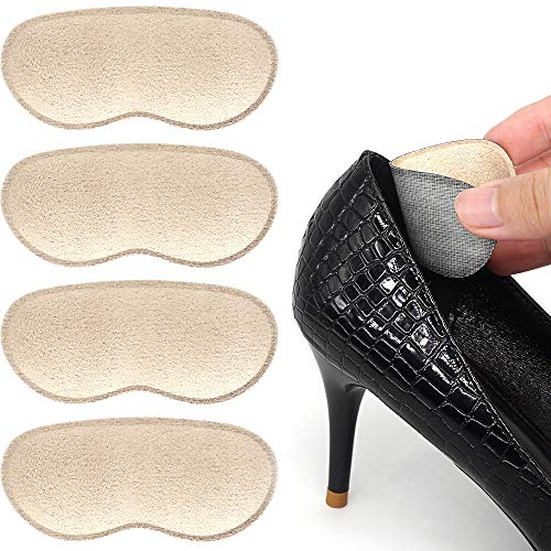 Dr. Foot's Heel Grips for Men and Women, Self-Adhesive Heel Cushion Inserts Prevent Heel Slipping, Rubbing, Blisters, Foot Pain, and Improve Shoe Fit (Beige)