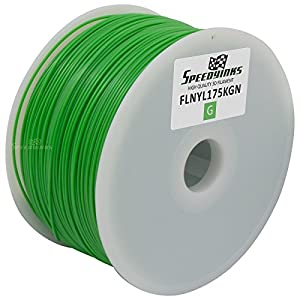 Speedy Inks - 1.75mm 1kg Nylon Green Filament for 3D Printers