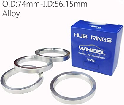 72.56mm OD to 66.1mm ID Circuit Performance Black Plastic Polycarbonate Hub Centric Rings
