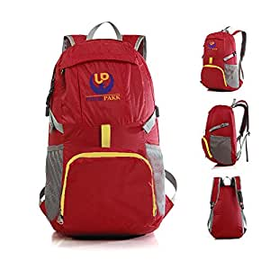 LIGHTWEIGHT 30L Foldable Backpacks 4 Men, Women & Kids. Large, WATER Resistant, Great Daypack 4 Hiking,Gym,Beach, Airport. FREE Travel Towel. BEST Travel Gifts Ideas