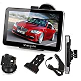 SEASTAR 7 Inch Car GPS 4gb Hd Touch Screen Navigation System Navigator Vehicle Tracker Free Maps +Car Charger,holder,cable
