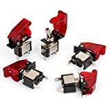 12V 20A Red LED Illumination SPST ON/OFF Racing Car Toggle Switch 5Pcs