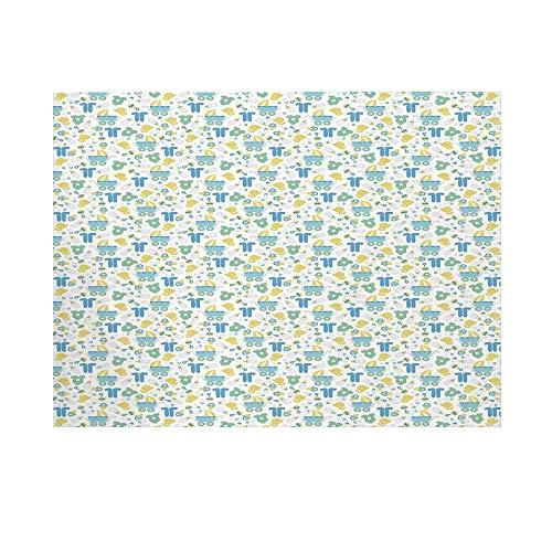 - Baby Photography Background,Retro Newborn Items Stroller Rubber Duck Milk Bottle Pin Pyjamas Pattern Decorative Backdrop for Studio,10x8ft