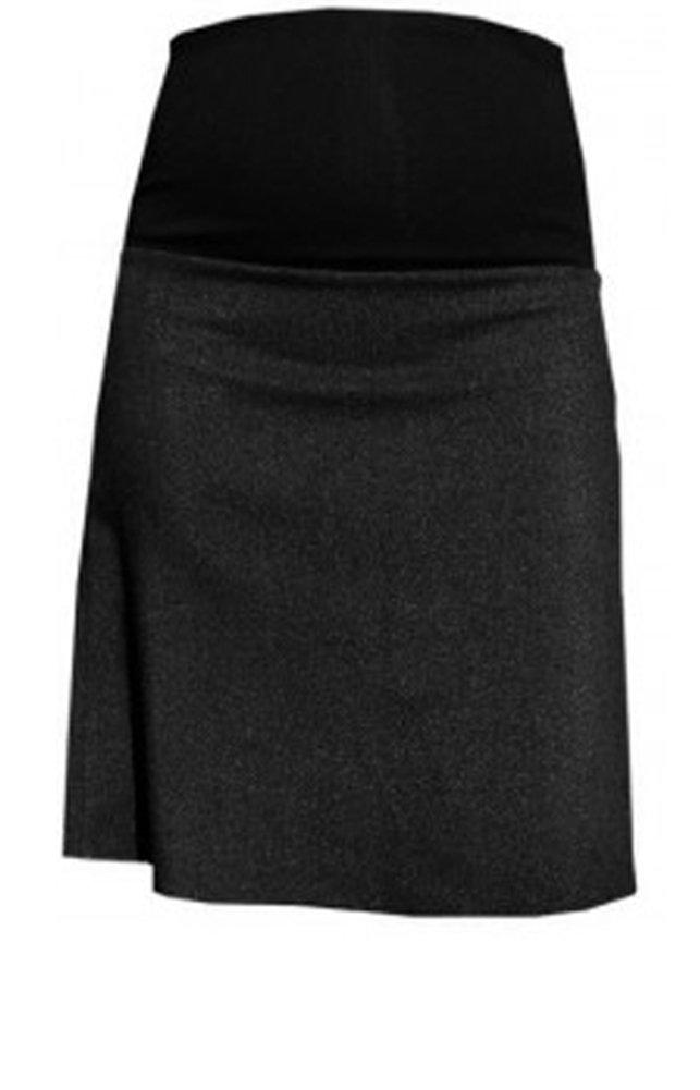 Mija – Elegant warm maternity pregnancy skirt with underlining 1018 (US 6, Black)