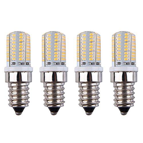 E14 LED Light Bulbs, 3W 64LED 360 Degree Beam Angle SMD 3014, 240-260LM LED Light Bulbs, Non-Dimmable 110V Corn Light Bulb for Household Garden Yard Warm White 3000K Pack of 4 Units (Light 3w Break Outdoor)