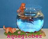 Fish Bowl Aquaglobez Unique Betta Fish Tank Aquarium Bowl Cat Tells