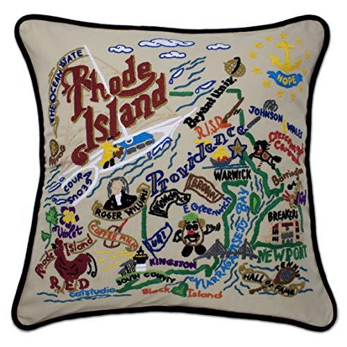 Catstudio | Rhode Island Throw Pillow | Hand-Embroidered | 20